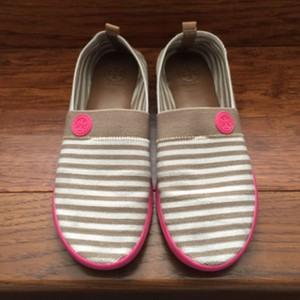 Tory Burch Slip On Sneaker Slip On Striped Pink, brown, cream Flats