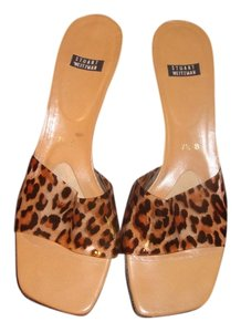 Stuart Weitzman Kitten Heel Brown Black Sandals