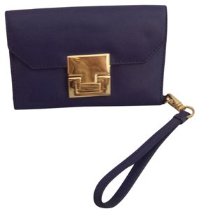Ivanka Trump Wallet Gold Hardware Wristlet in Blue
