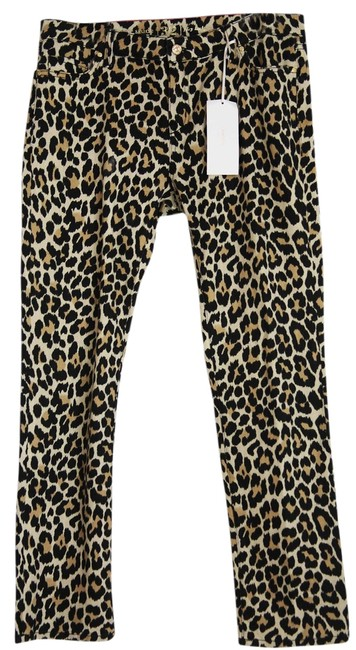 Item - Multi Color - Leopard New York Broome Street Print Straight Leg Jeans Size 32 (8, M)