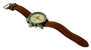 Invicta Invicta Force Men's Lefty Chronograph Champagne Dial Brown Strap Watch