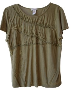Sundance Beaded T Shirt taupe