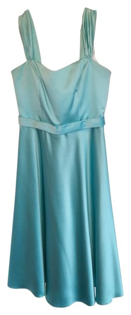 Item - Sky Blue Polyester (Satin Feel) F14556 Formal Bridesmaid/Mob Dress Size 6 (S)