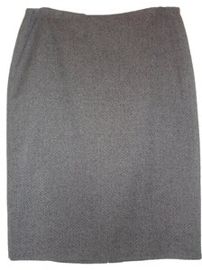 Linda Allard Ellen Tracy Skirt Gray