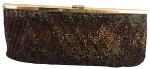 Beaded Evening Clutch Chevron Bronze Clutch