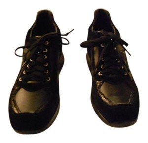 Santoni Women's Sneaker Made In Italy Black Athletic