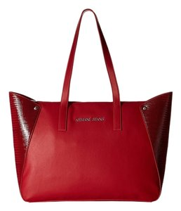Armani Jeans Tote in Red