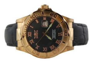 Invicta Invicta Men's Pro Diver Elegant Rose Gold-Tone Leather Watch