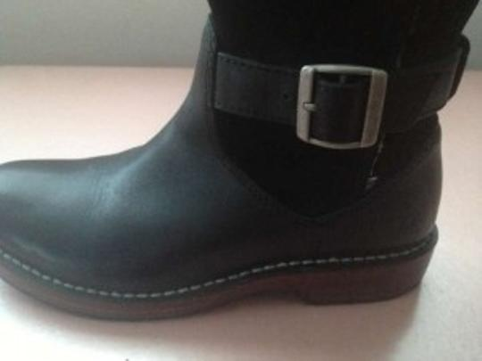 UGG Australia Fur Rain Leather black Boots