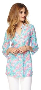 Lilly Pulitzer Top Spa Blue- Lobstah Roll