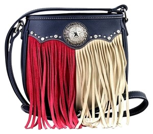 Montana West Leather Fringe Texas Pride Cross Body Bag