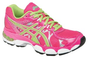 Asics Running Pink Size 6 Hot Pink/Mint Athletic