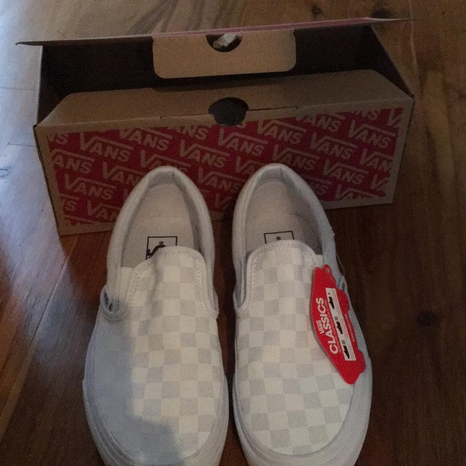 Vans True White True White Checkerboard Slip On Sneakers Size US 8 ... b785d9134