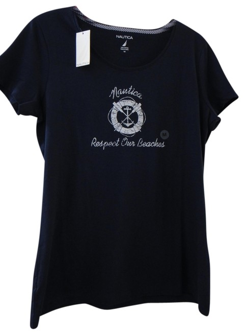 Preload https://item5.tradesy.com/images/nautica-navy-blue-cotton-t-shirt-1510309-0-0.jpg?width=400&height=650