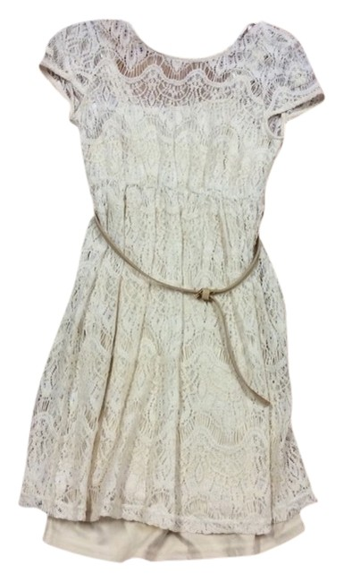 Ya Los Angeles short dress IVORY on Tradesy