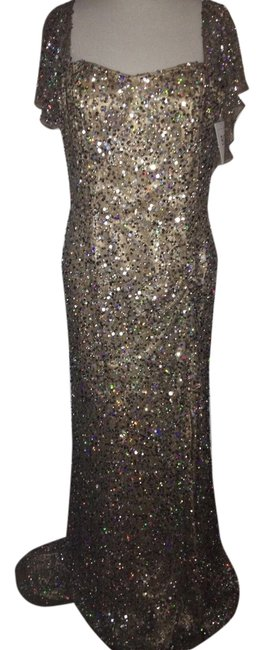 Preload https://item3.tradesy.com/images/bg-haute-sequin-long-elegant-dress-mocca-with-silver-sequins-1510517-0-2.jpg?width=400&height=650