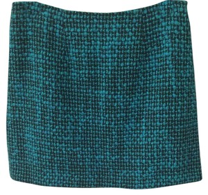 Alice + Olivia Mini Skirt Teal Blue
