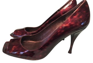 Stuart Weitzman Patent Leather Tortoise Shell Brown Pumps