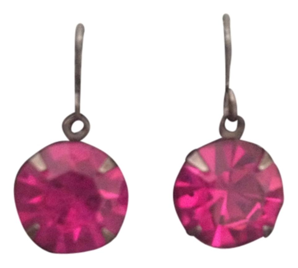 Other Fuchsia Pink Stone Stud Earrings
