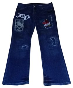 Ed Hardy Boot Cut Jeans-Medium Wash