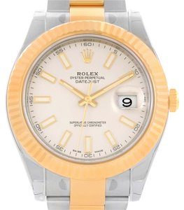 Rolex Rolex Datejust II Steel Yellow Gold Ivory Dial Watch 116333ISO Unworn
