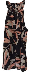 Banana Republic Floral Cut-out Top Black, pink, cream, tan