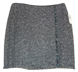 Tahari Skirt Black, Teal and Cement