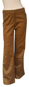 Trina Turk Brushed Cotton Khaki/Chino Pants Tan