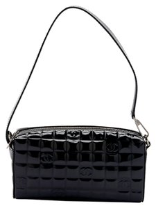 Chanel Chocolat Bar East/west Patent Mini Black Clutch