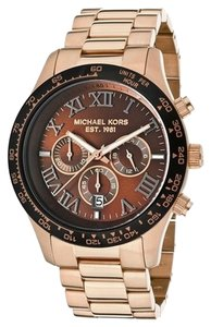 MICHAEL Michael Kors Michael Kors Rose-goldtone 'Layton' Chronograph Watch