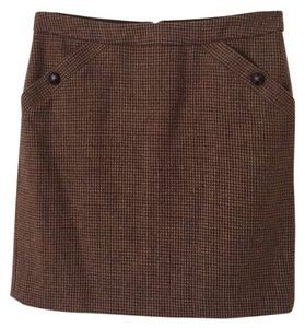 Banana Republic Tweed Lined Pockets Skirt Brown, tweed