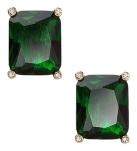 Ralph Lauren Price reduced until 2/15...with Bonus..3 Pairs of 14k Gold-Plated Rectangular Colored Glass Stone Earrings in Ruby, Emerald & Black