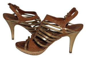Miu Miu gold/tan Sandals