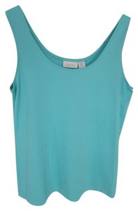 Chico's Sleeveless Scoop Neck Sky Casual Top Blue