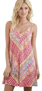 Forever 21 Pink Angled Abstract Print Cover-Up