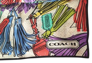 Coach Coach Multi Tassel Multicolor Neck Scarf LARGE