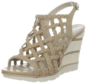 Aquatalia Leather taupe Wedges