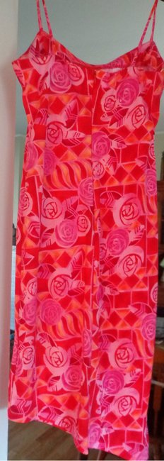 Passport short dress Peach/Pink Summer Sundress Bright Asymmetrical Hem Print on Tradesy