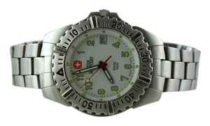 Swiss Military Men's Silver-Tone Stainless Steel Watch 39mm