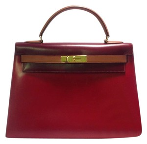 Hermès Boxcalf Kelly Rare Tricolor Shoulder Bag