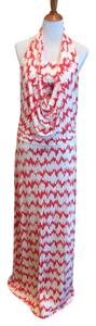 Rouge Maxi Dress by Arden B. Maxi Ikat Print Cowl Neck