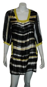 Lauren Moffatt short dress Yellow/Black/White on Tradesy
