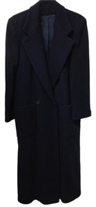 Perry Ellis Wool Long Classic Trench Coat