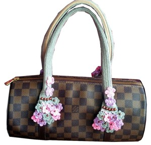 Handmade Handle Covers For Louis Vuitton Neverfull MM Papillon 30 gray