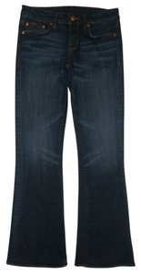 Buffalo David Bitton 5 Pocket Style Zip Fly Cotton/spandex Felow Flare Leg Jeans-Dark Rinse