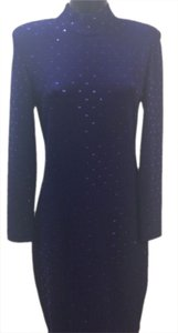 St. John St High Collar Sequin Dress