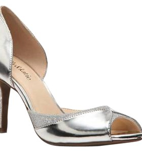 Kelly & Katie Silver Pumps