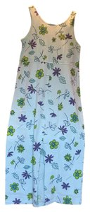 light blue floral Maxi Dress by Fresh Produce Comfortable Summery