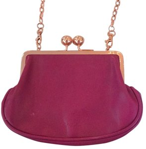 Ted Baker Magenta Rose Gold Chain Cross Body Bag