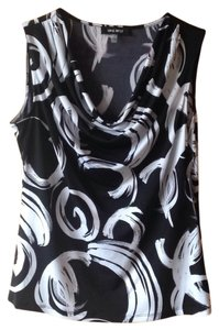 Nine West Top Black and White